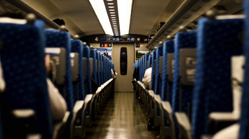 Le train au Japon