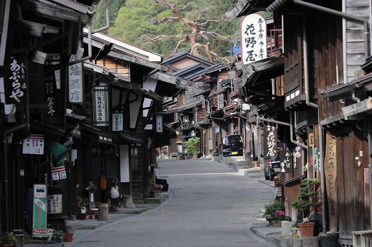 La ville de Narai dans les alpes japonaises