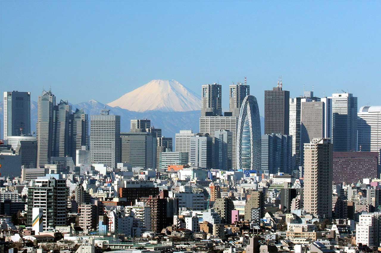 Le quartier de Shinjuku à Tokyo